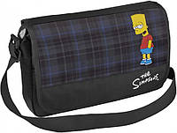 """Подростковая сумка через плечо для учебы """"The Simpsons"""" Cool for school SI08801 черный/печать"""