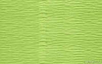 Бумага гофрированая (крепированая) 180 г/м2, (ДхШ) 125см.х50см. бледнозеленый 566