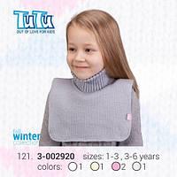 """Манишка для девочки из новой коллекции """"TuTu"""" арт. 3-002920"""