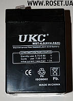 Аккумуляторная батарея UKC WST-4.0 (6 V-4.0 AH)