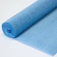 Бумага гофрированая (крепированая) 180 г/м2, (ДхШ) 125см.х50см. (1\2 заводского стандартного рулона) голубой 556