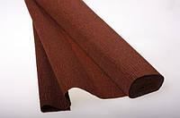 Бумага гофрированая (крепированая) 180 г/м2, (ДхШ) 125см.х50см. (1\2 заводского стандартного рулона) темно-коричневая 568