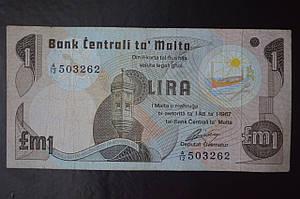 Мальта/Malta 1 Lira  1967 год (ББ) 2
