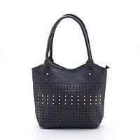 Удобная, стильная, практичная сумочка на каждый день. Сумка с клёпками. Черная сумочка. Код: КБН48