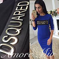 Платье модное молодежное с нашивкой DSQUARED разные цвета SMl694