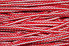 Шнур акрил 6мм. (100м) красный+молочный