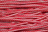 Шнур акрил 6мм. (100м) красный+молочный , фото 1