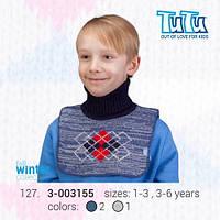 """Манишка для мальчика из новой коллекции """"TuTu"""" арт. 3-003155"""