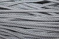 Шнур акрил 6мм. (100м) белый+св.серый , фото 1