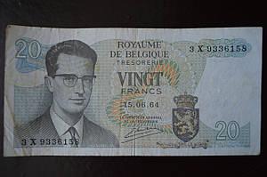 Бельгия 20 frank 1964 год Р 138