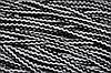 Шнур акрил 6мм. (100м) черный+св.серый