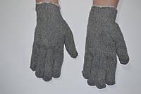Перчатки х\б серые