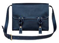 Satchel bag blue, мессенджер синяя, фото 1