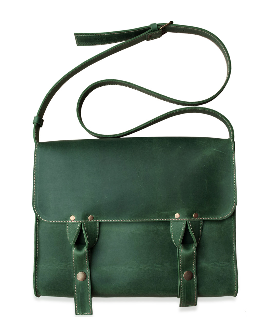 Satchel bag green, мессенджер зелёная