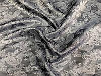 Подкладка вискозная Огурцы (серый) (арт. 0336) отрез 1,33 м