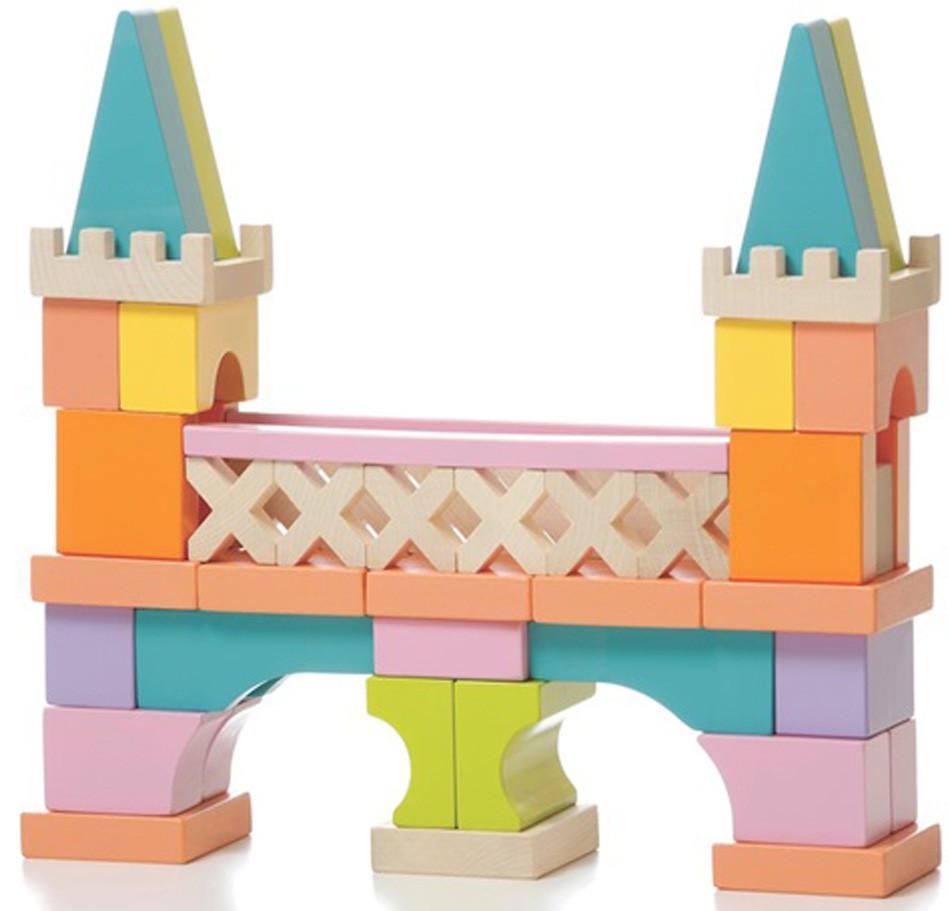 Деревянный конструктор «Мостик» LО-1, 52 дет. TM Cubika - Інтернет магазин розвиваючих іграшок та настільних ігор в Львовской области