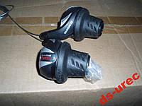 Манетки Ревошифт 3-7 черный с экраном Shimano, фото 1