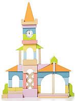 Детский деревянный конструктор — ратуша LV-1, 51 дет. TM Cubika