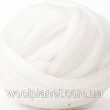 Шерсть для валяния австралийский меринос 18 мкм ( Италия) белый,натуральная шерсть для валяния