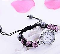 Женские часы / браслет шамбала розовый