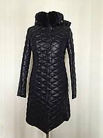 Стеганное женское пальто зимнее демисезонное