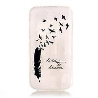 Чехол накладка силиконовый TPU Printing для Huawei Y625 Feather and Birds