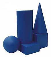 Набор геометричних тел ( шар,цилиндр,конус,куб, пареллепипед -  5 шт )