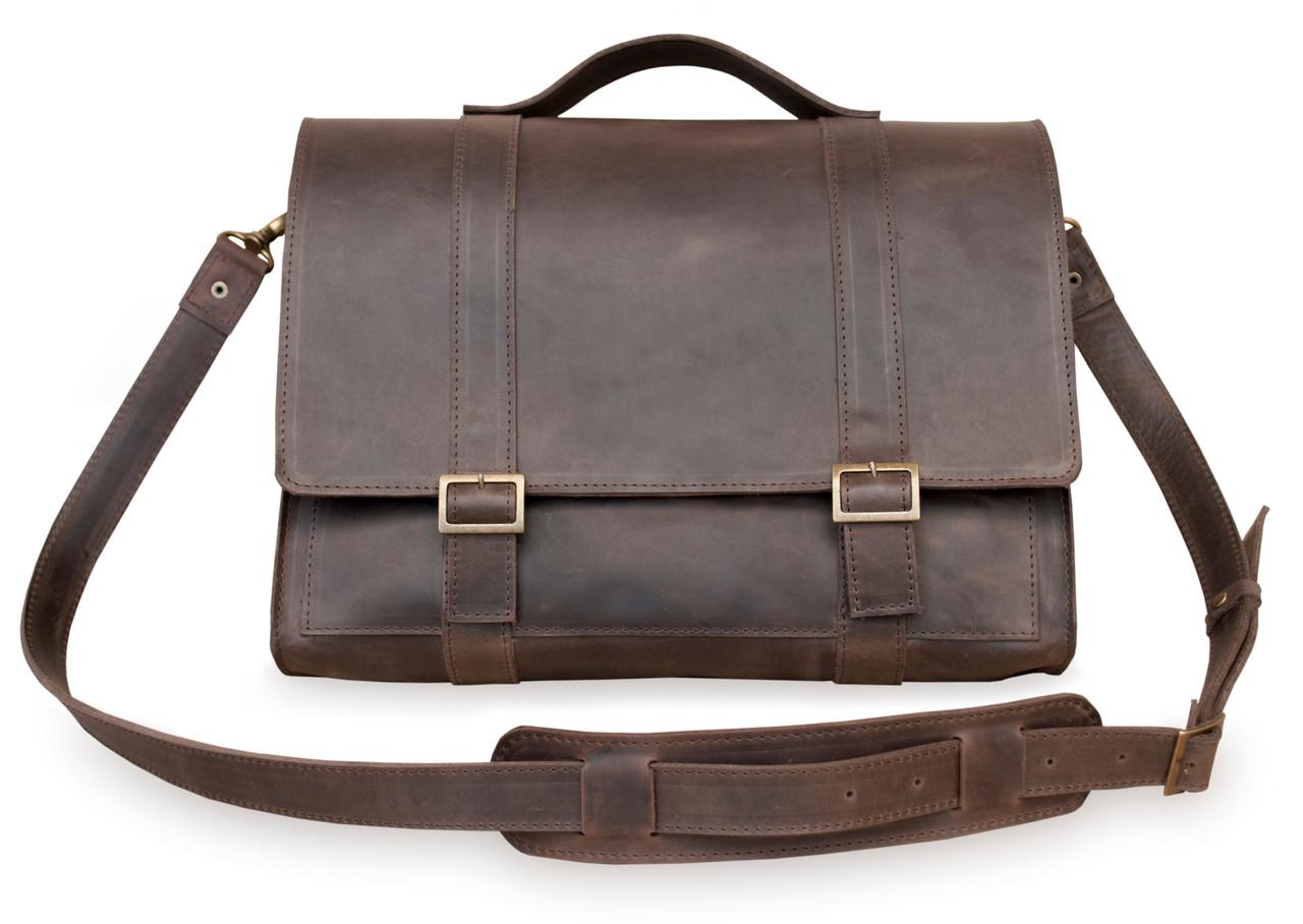 Bag Briefcase brown, мессенджер тёмно-коричневая