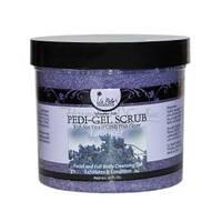 LA PALM Pedi-Gel Scrub - Гелевый скраб / питание и обмен веществ, Lavender - Лаванда, 355 мл