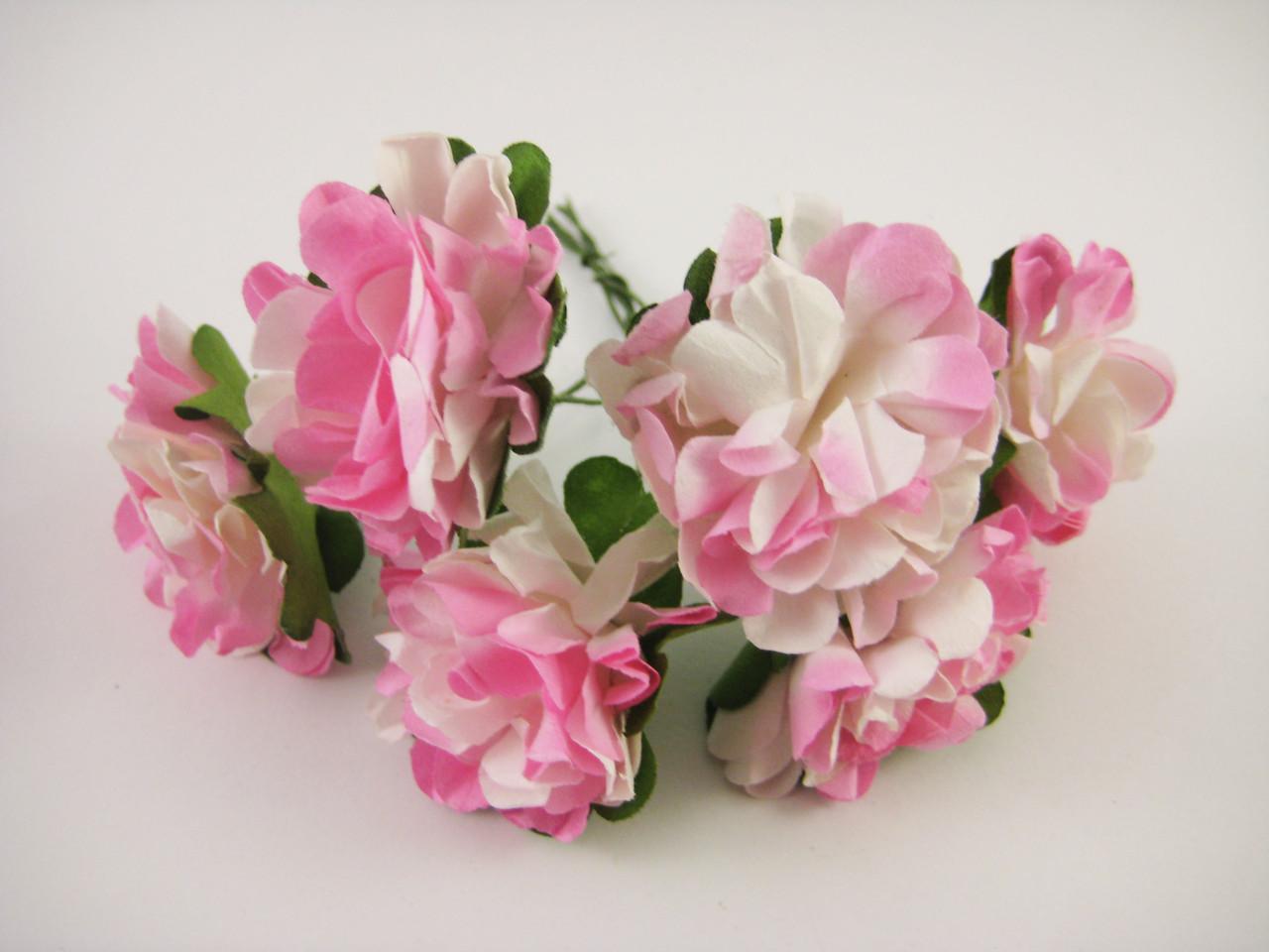 Цветок Розовый с белым