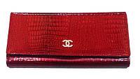 Женский кошелек Chanel (Шанель) 505-29 красный с монетницей внутри кожа