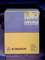 Водостойкая бумага шлифовальная  PS 8 A листы 230 х 280 Klingspor, листы 230х280 мм зерно р1000
