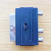 Переходник SCART - RCA/S-Video с переключателем