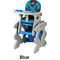 Стульчик для кормления трансформер Caretero Primus - blue , многофункциональный стульчик