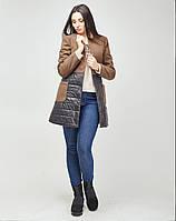 Женское пальто из ткани кашемира и стежки