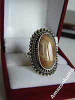 """Серебряное кольцо """"Лидия"""" натуральный агат Ботсвана!"""