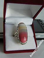 "Серебряное кольцо ""Агата"" натуральный агат Ботсвана"