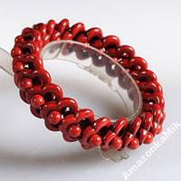 Браслет-керамика, сделан под красный коралл!!!
