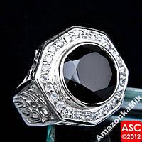 """Серебряное кольцо """"Мавритания""""  черный оникс"""