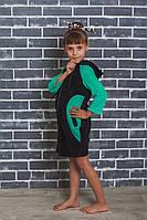 Велюровий халат на дівчинку з капюшоном.Розміри 128-152