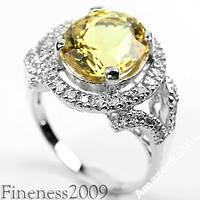 """Серебряное кольцо """"Шардоне"""" натуральный цитрин, серебро"""
