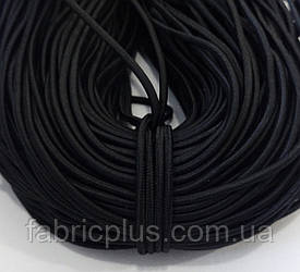 Резинка  шляпная 3 мм черная Китай