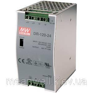 DR-120-24 Блок питания на Din-рейку Mean Well 120вт, 24в, 5А