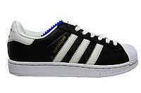 Мужские кроссовки Adidas Superstar, кожаные, Р. 43 44