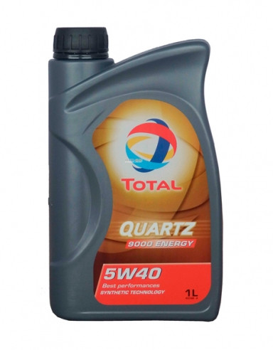 Моторное масло Total Quartz 9000 Energy 5w40 1л синтетика для BMW Volkswagen Mercedes-Benz Peugeot Citroen