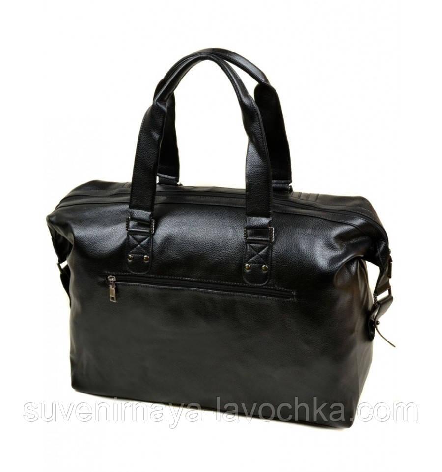 Сумка Мужская Дорожная иск-кожа dr.Bond 98802 black, сумка компактная качественная