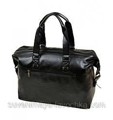 Сумка Чоловіча Дорожня позов-шкіра dr.Bond 98802 black, сумка компактна якісна