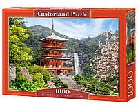 """Пазлы Castorland 1000 элементов - """"SEIGANTO-JI TEMPLE, JAPAN"""". Быстрая доставка. Производство Польша."""