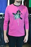 XXL/52   Молодежный мужской  джемпер малиновый с принтом, фото 2