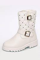 Ботиночки для девочек ТМ Clibee белые К33 (27-32)
